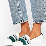 Lost Ink Lola Pleat White Point Sneakers