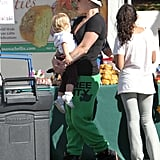 Pink held Willow Hart close as they made a stop in Malibu.