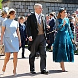 Eugenie and Beatrice arrived in style with their dad at Prince Harry and Meghan Markle's wedding in 2018.