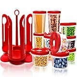 Fun Life 25-Piece Food Storage Container Set With Rotating Rack