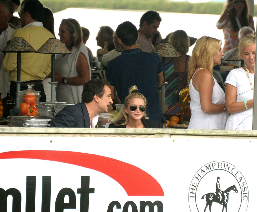 Mary-Kate Olsen was joined by her boyfriend, Olivier Sarkozy, in the Hamptons.