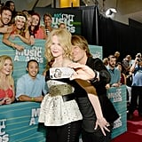The couple snapped a sweet selfie on the red carpet in June 2015 during the CMT Awards in Nashville.