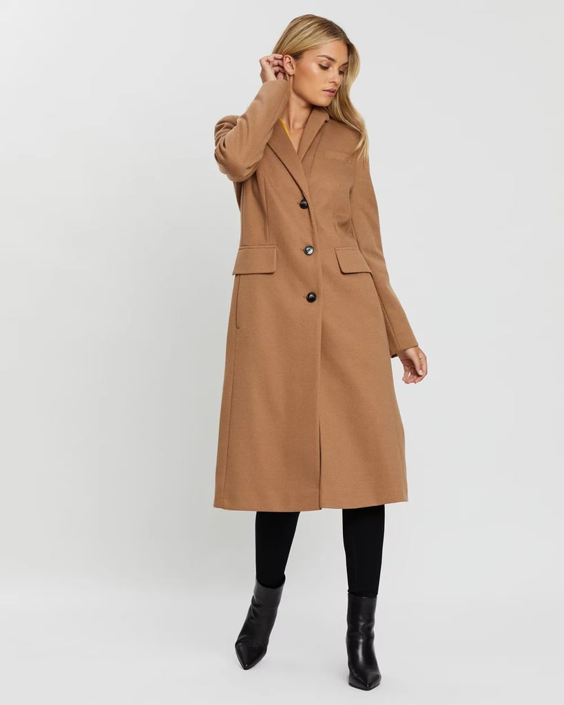 Dorothy Perkins Longline Texture Fitted Coat