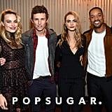 Pictured: Will Smith, Cara Delevingne, Margot Robbie, and Eddie Redmayne