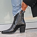 Tony Bianco Gloss Black Croc Patent Ankle Boots ($259.95)