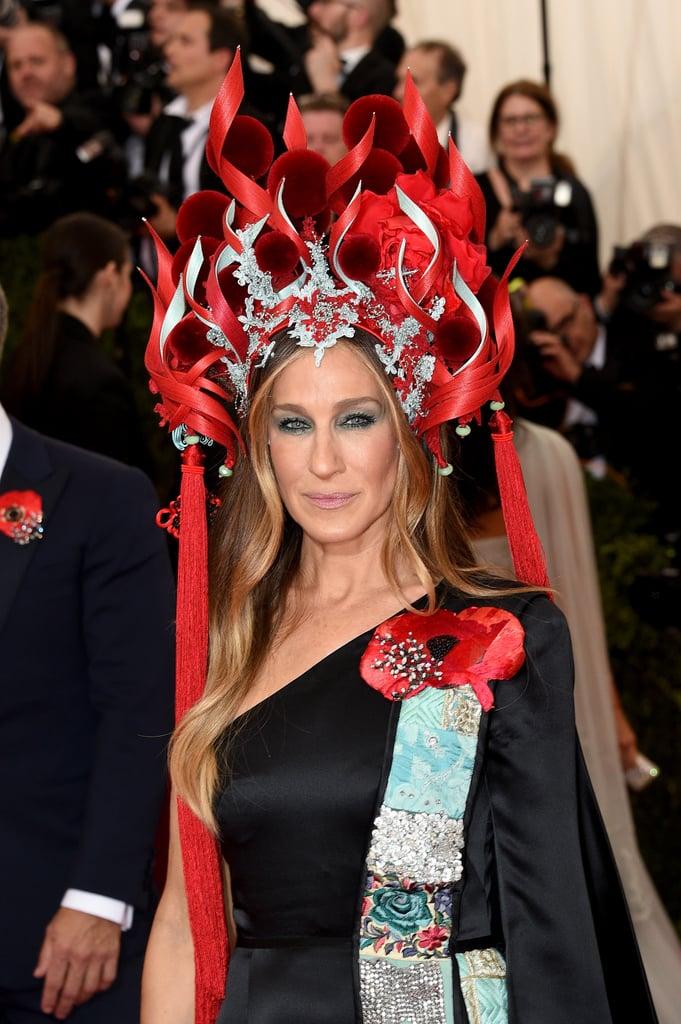 Sarah Jessica Parker Headpiece at Met Gala 2015