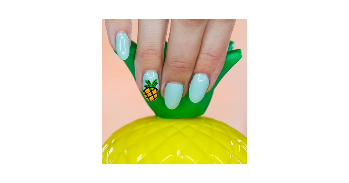 - Pineapple Nail Art Tutorial POPSUGAR Beauty