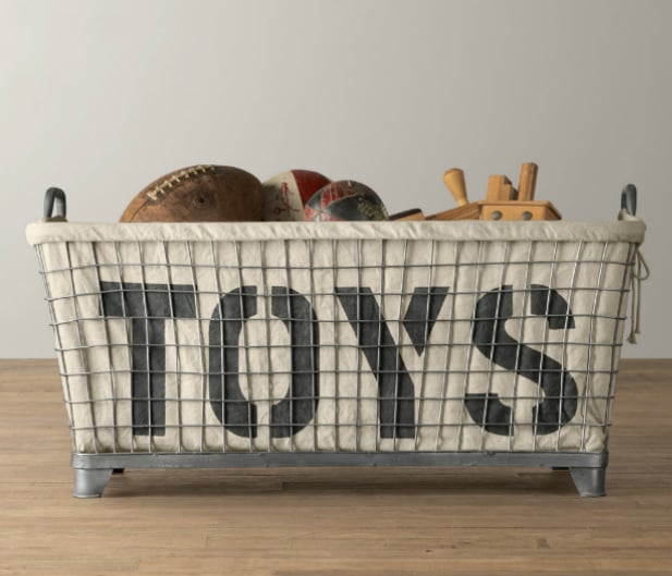 RH Baby & Child Industrial Basket & Toy Liner ($299)