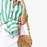 Cult Gaia Brown Luna Bamboo Shoulder Bag