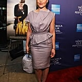 Abbie Cornish posed for the press at the Tribeca Film Festival.