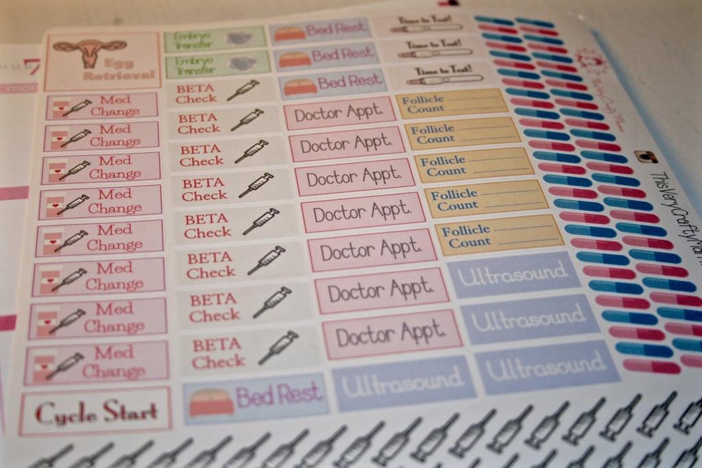 IVF Planner Stickers