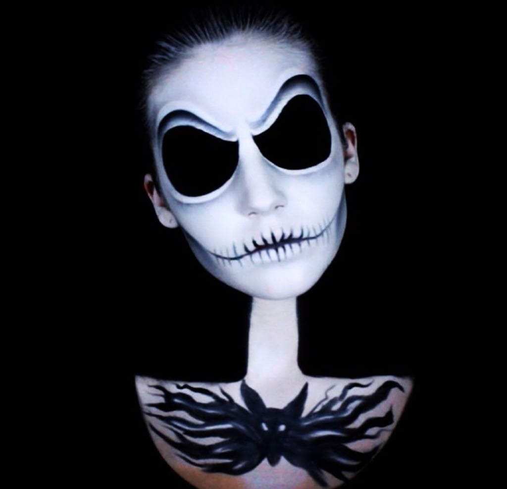 Tim Burton Halloween Makeup Tutorials Popsugar Beauty