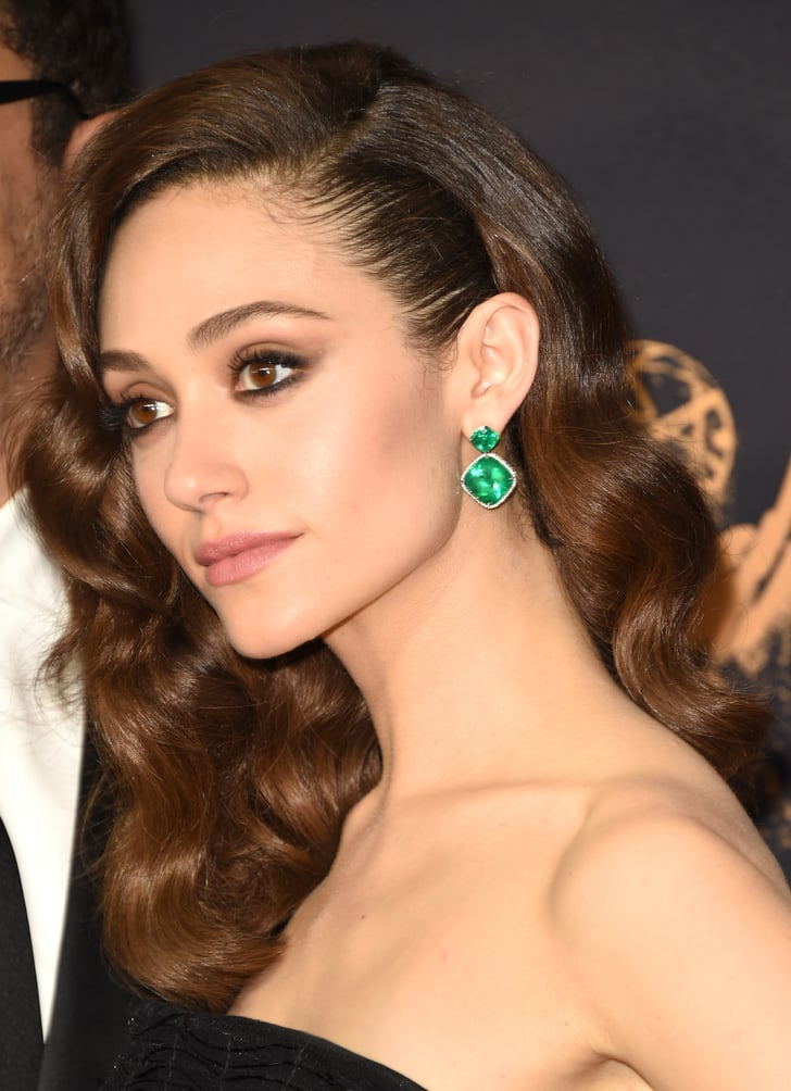Emmy Rossum Emmys Red Carpet Jewelry 2017 Popsugar