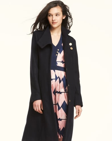 Lauren Moffatt Epaulet Coat in Navy ($550)