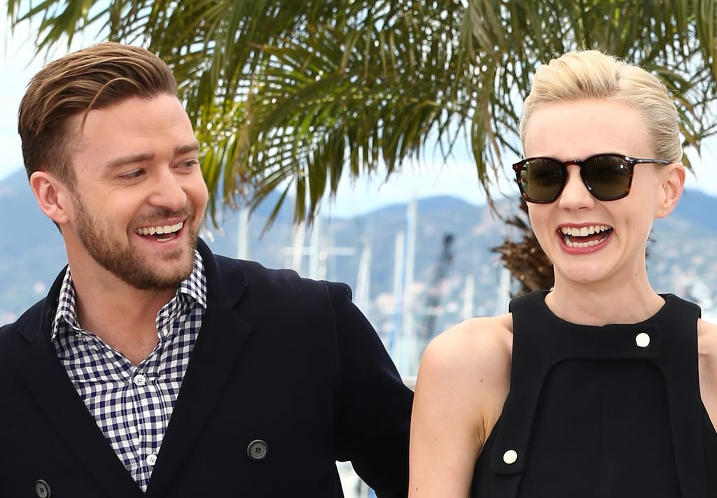 Justin Timberlake and Carey Mulligan had a laugh at the Inside Llweyn Davis photocall.
