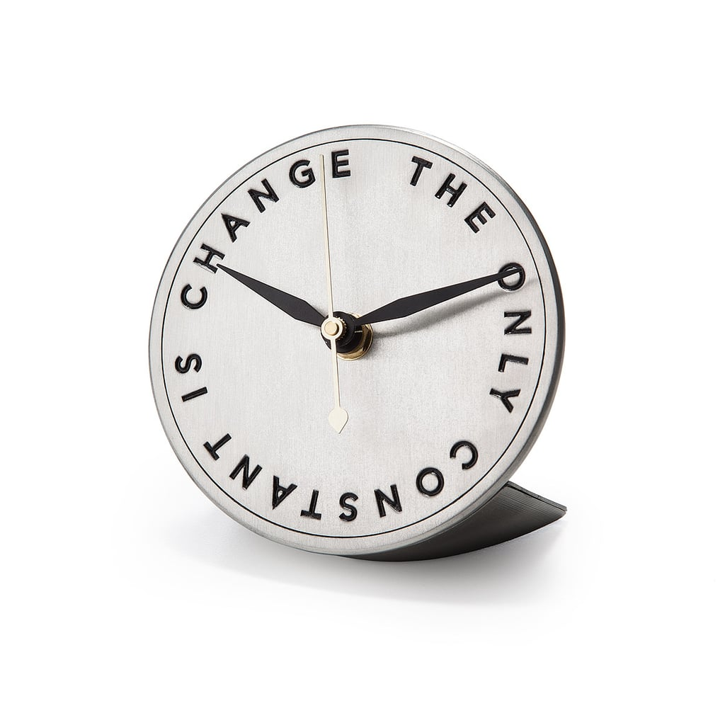 """Change Is the Only Constant"" Clock ($68)"