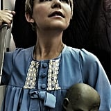 Ginnifer Goodwin went old-school horror to be Rosemary from Rosemary's Baby, demon child and all. Source: Twitter user ginnygoodwin