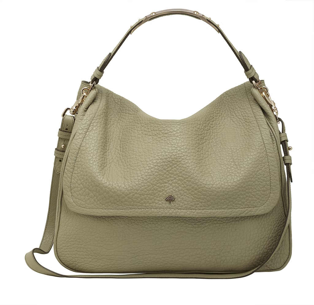 39393ab235a5 Large Evelina Satchel in Summer Khaki Soft Large Grain - £895 ...