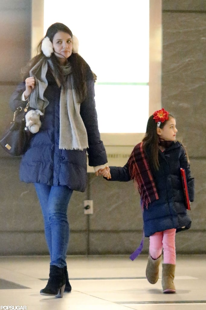 Suri Cruise and Katie Holmes went out around NYC.