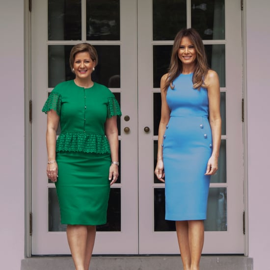 Melania Trump Blue Michael Kors Dress