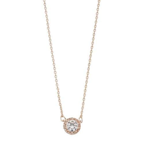 LC Lauren Conrad Cubic Zirconia Halo Necklace