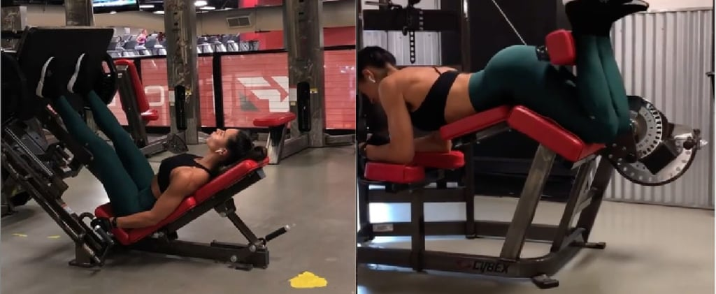 Kelsey Wells Machine Leg Workout