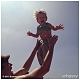 Finn Warren was flying high in the sky while his mama, Autumn Reeser, snapped away. Source: Instagram user autumn_reeser