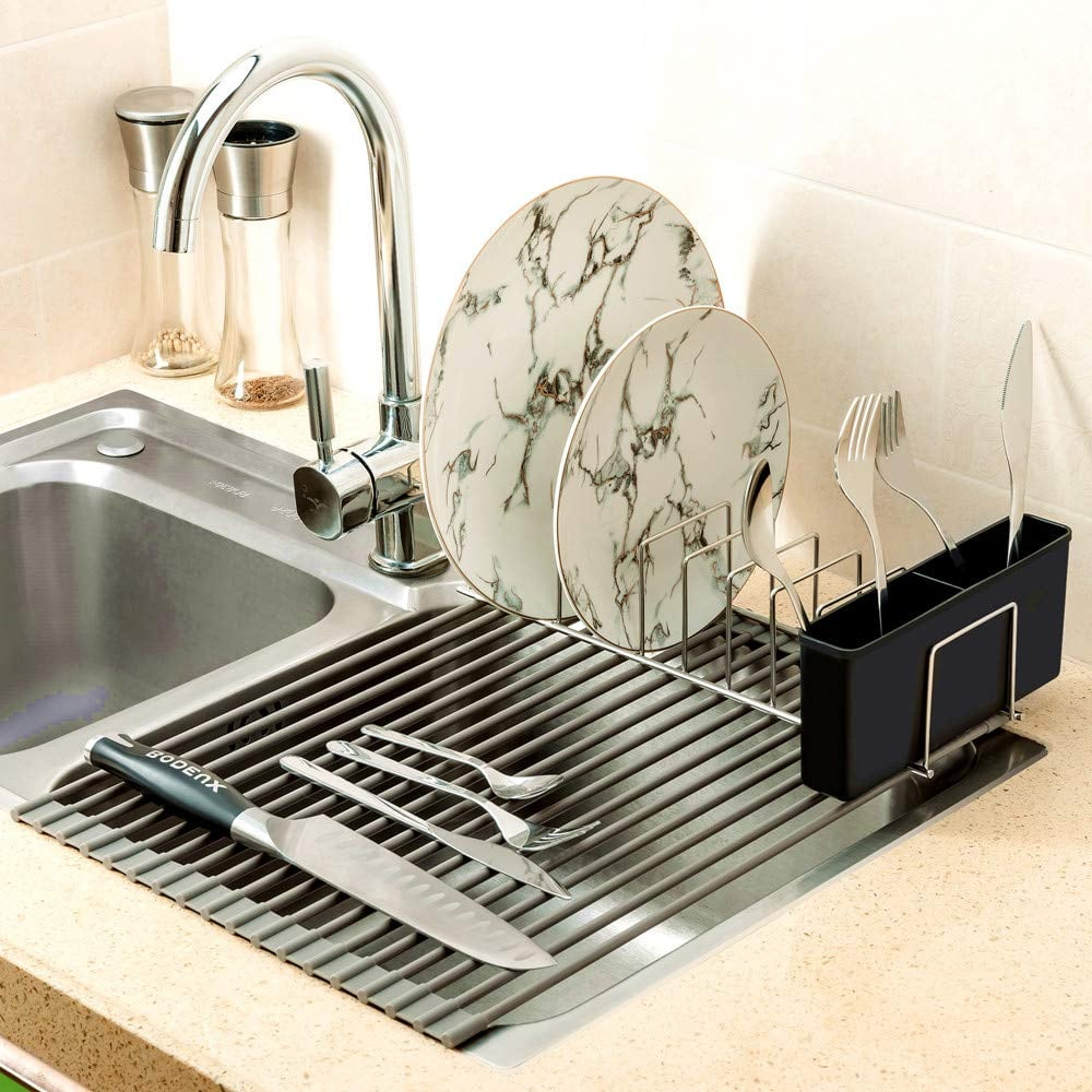 Sanno Over the Sink Roll-Up Dish Drying Rack | Best Home