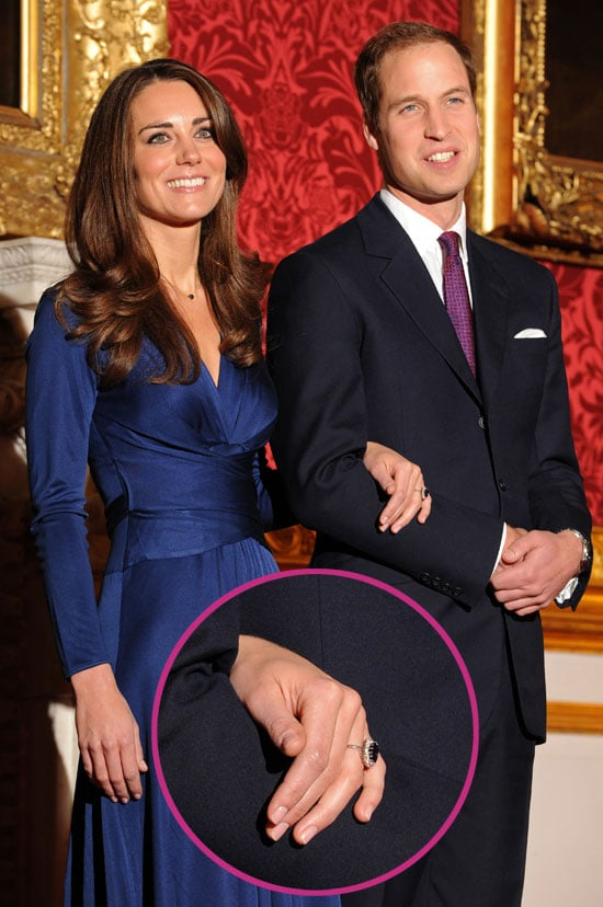 Pictures of Prince William and Kate Middleton With Engagement Ring