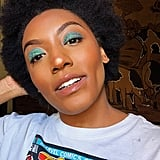 Look #3: Blue Glitter Eyeshadow
