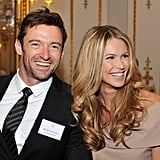 Australians Hugh Jackman and Elle Macpherson snapped a photo together.