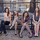 Allison Williams, Jemima Kirke, Lena Dunham, and Zosia Mamet in Girls. Photo courtesy of HBO