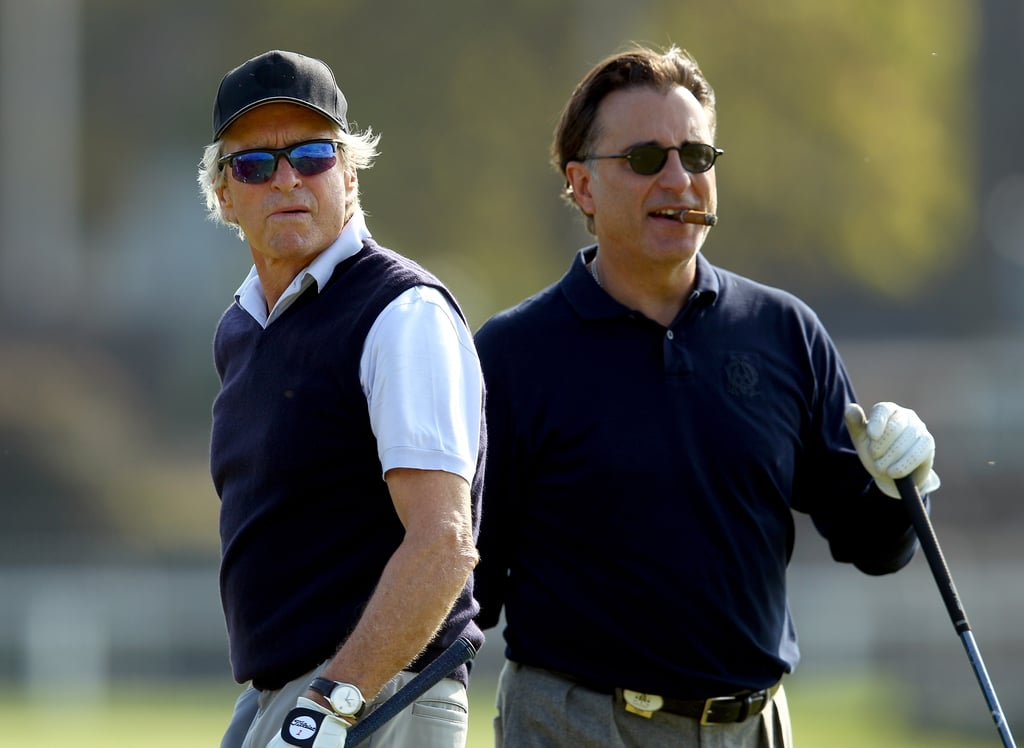 Michael Douglas and Andy Garcia played a round in Scotland in September 2011.