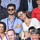 Tanya Burr and Jim Chapman at Day 11 of Wimbledon