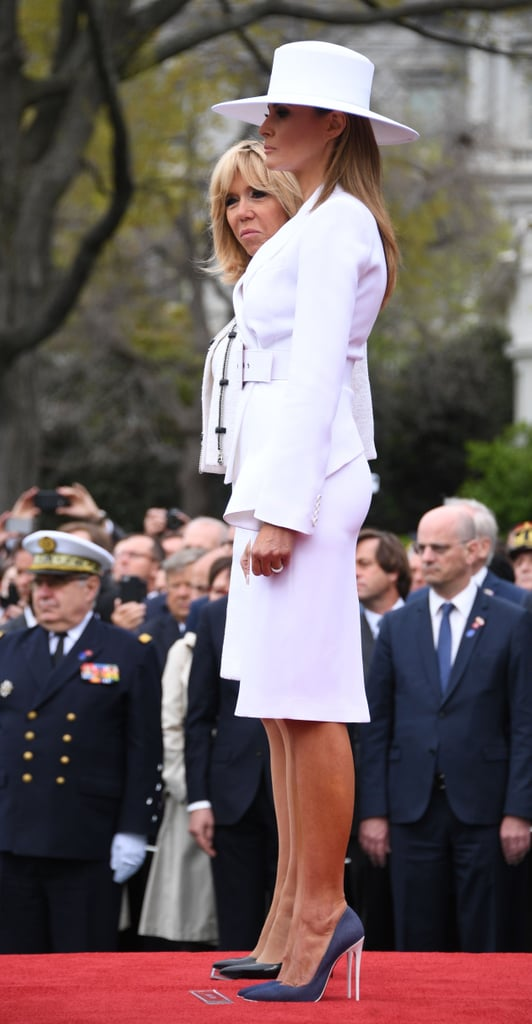 Melania Trump's White Hat and Michael Kors Suit 2018