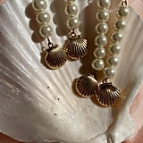 Dakota Jinx Closed Shell Pearl Drop Earrings