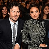 Ian Somerhalder and Nina Dobrev sat next to each other in the audience.
