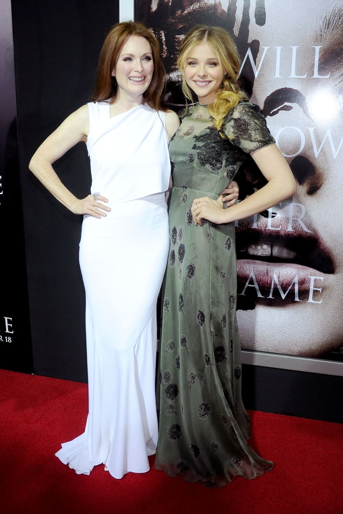 Chloë Moretz posed with Julianne Moore at the Carrie premiere in LA.