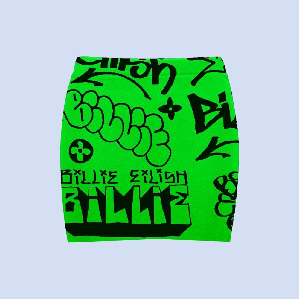 Green Graffiti Skirt