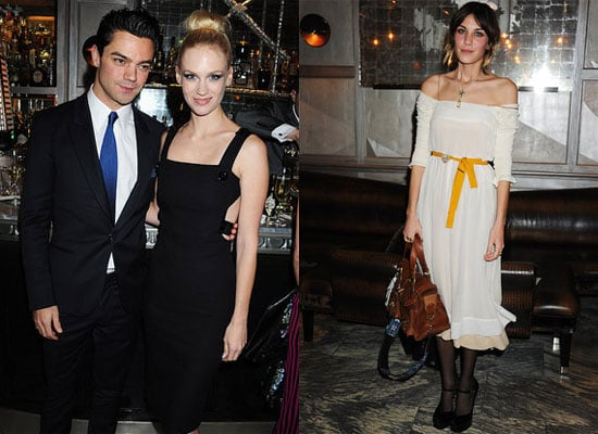 Alexa Chung, January Jones, Dominic Cooper, Daisy Lowe at Versace Dinner in London