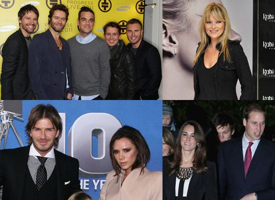 Poll on Celebrities' New Year's Eve Plans Including Take That, Kate Moss, Beckhams, Prince William and Kate Middleton