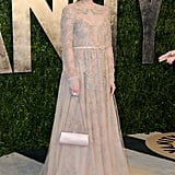 Zooey Deschanel arrived at the Vanity Fair Oscar Party on Sunday night.