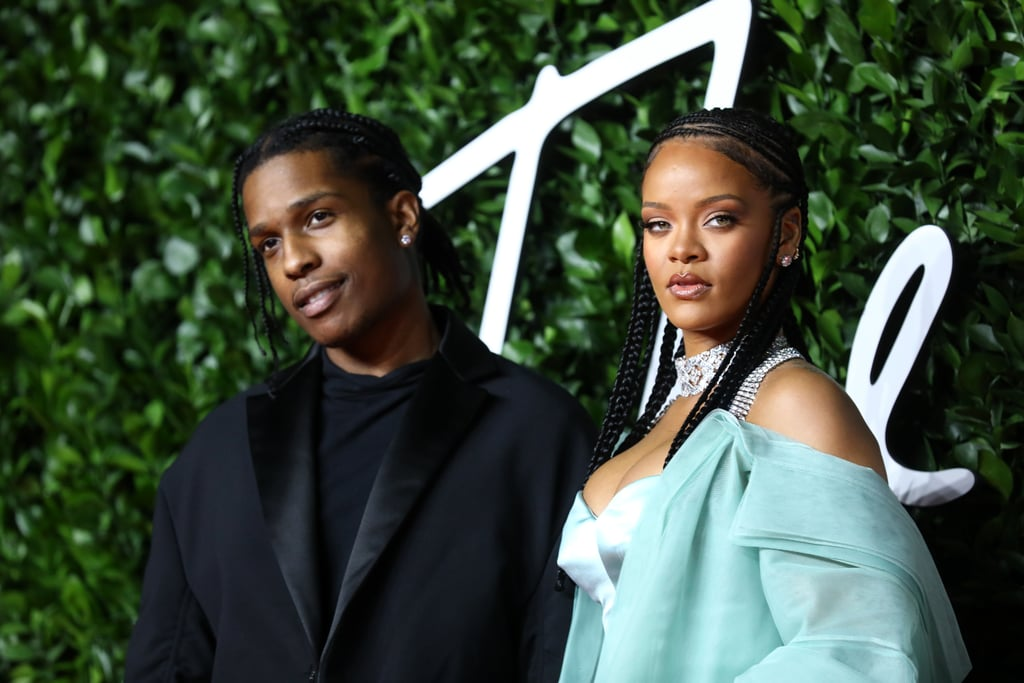 A$AP Rocky and Rihanna at the British Fashion Awards 2019 in London