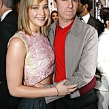 Jennifer Lawrence met up with Christian Dior designer Raf Simons after the brand's Haute Couture runway show on Monday.