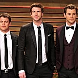 Luke, Liam, and Chris made one seriously good-looking trio at the 2014 Vanity Fair Oscars party in LA.