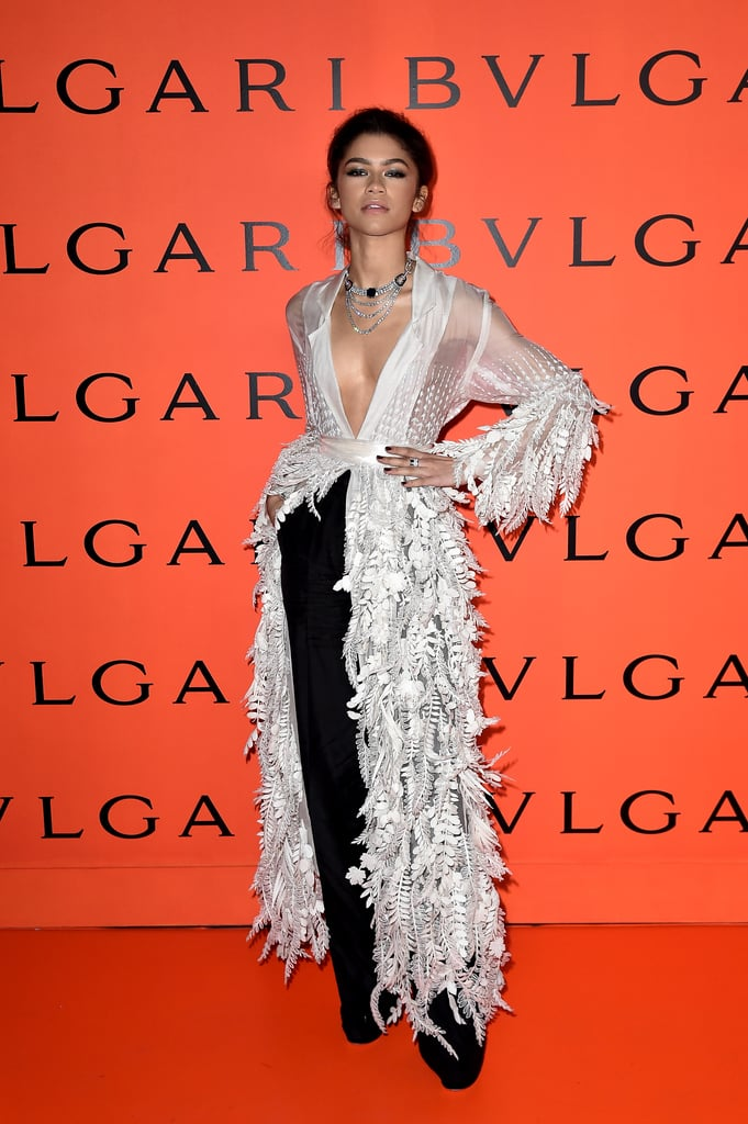Zendaya at the Bulgari Party at New York Fashion Week