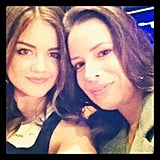 Lucy Hale and Holly Marie Combs smiled for the camera. Source: Instagram user lucyhale89