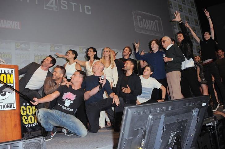 A big group posed for an epic selfie jennifer lawrence for Epic motors san diego