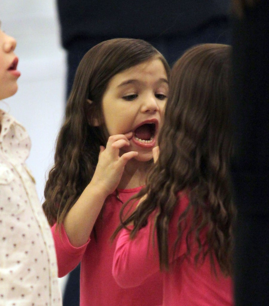 Pictures of Suri Cruise Trying On High Heels With Katie Holmes in Canada