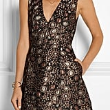 Alice + Olivia Pacey Metallic Brocade Mini Dress  ($495)